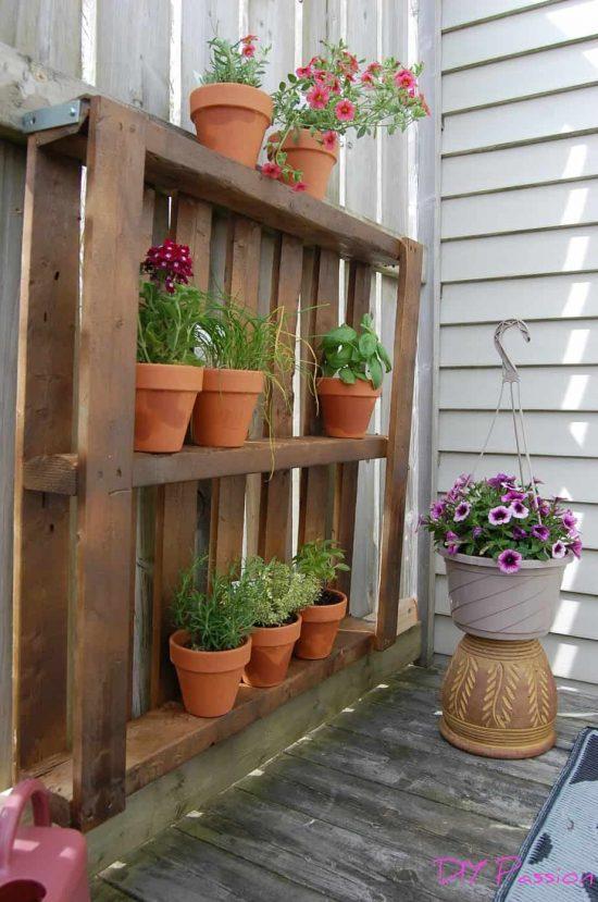 Vertical Herb Garden from a Pallet