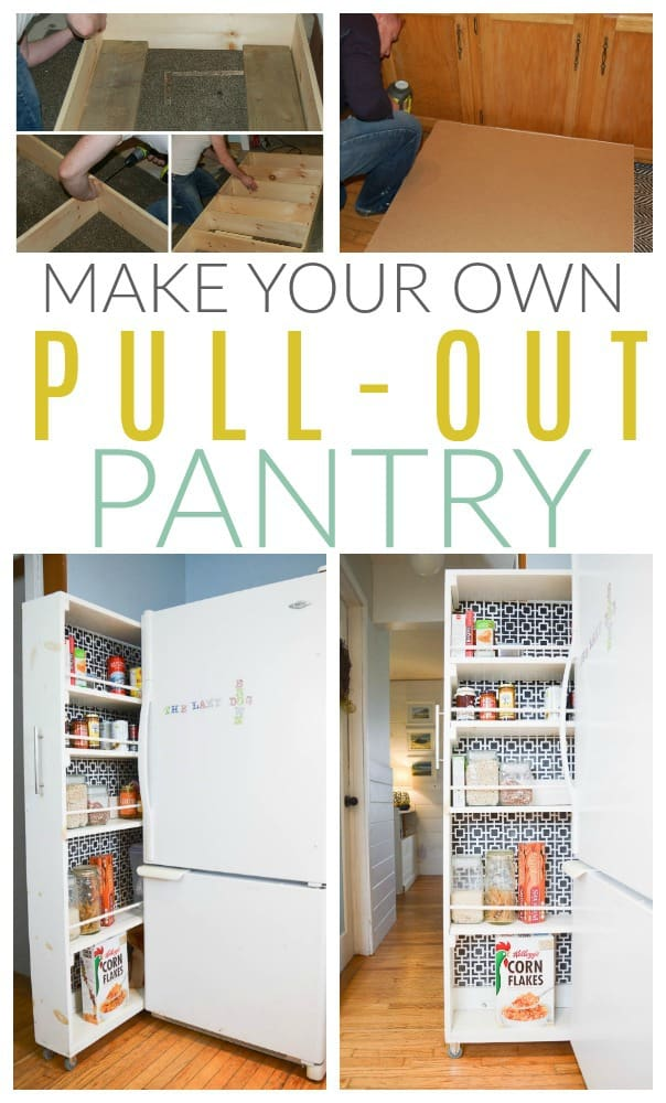 How to DIY a Pull Out Pantry [Easy Tutorial]