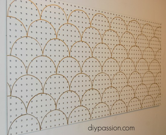 Stencilled Peg Board 3