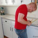 Installing a bead board back splash
