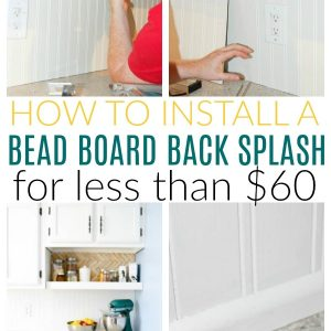 install bead board back splash