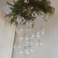 DIY Hanging Ornament Chandelier