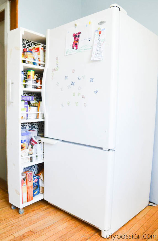 Space Saving Pantry in a DIY Kitchen upgrade