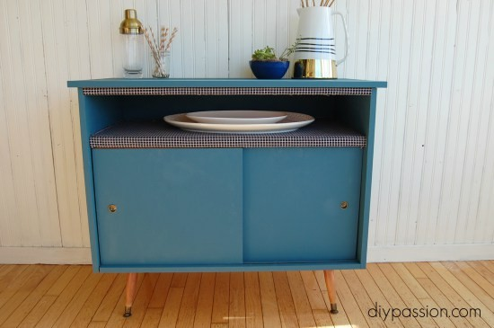 Add an Upholstered Shelf to a Buffet Table