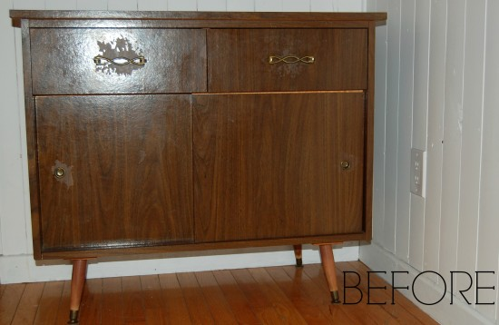 Midcentury Modern Buffet Makeover with Chalk Paint