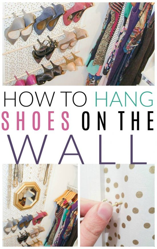 hang shoes organizer