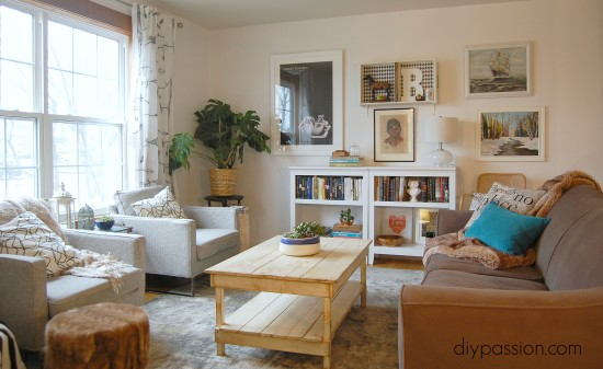 Winter White Living Room Tour