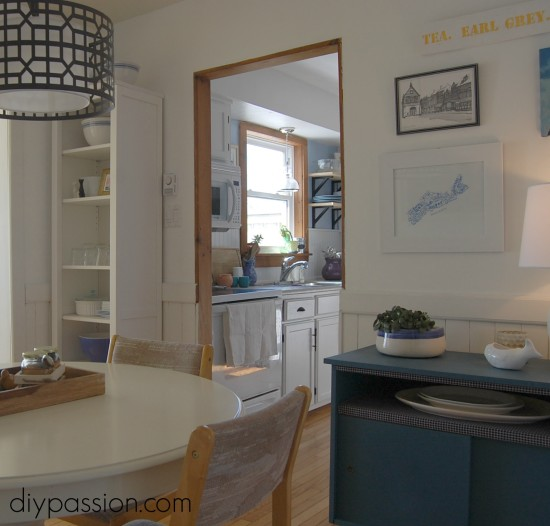 White Dining Room Reveal