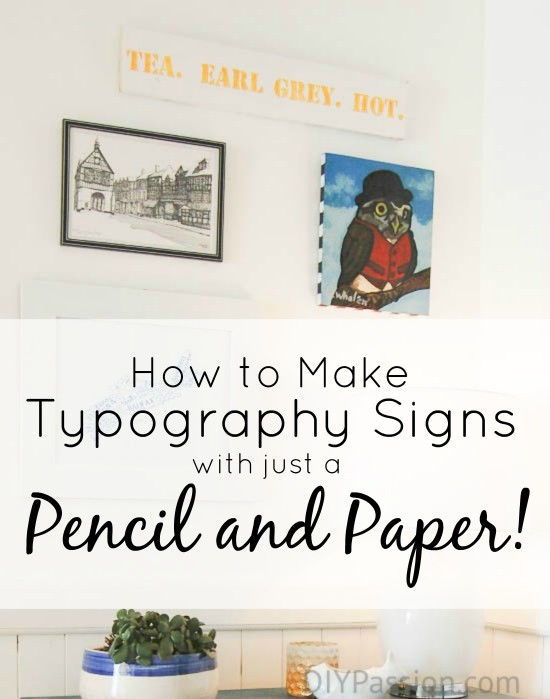 How to Make Typography Signs with Just a Pencil and Paper