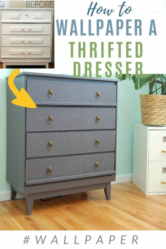 How To Wall Paper A Dresser