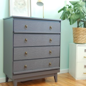 Wall Papered Dresser via diypassion.com