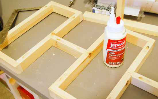 Assembling a DIY geometric Day Bed