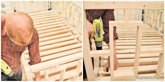 Assembling bed slats