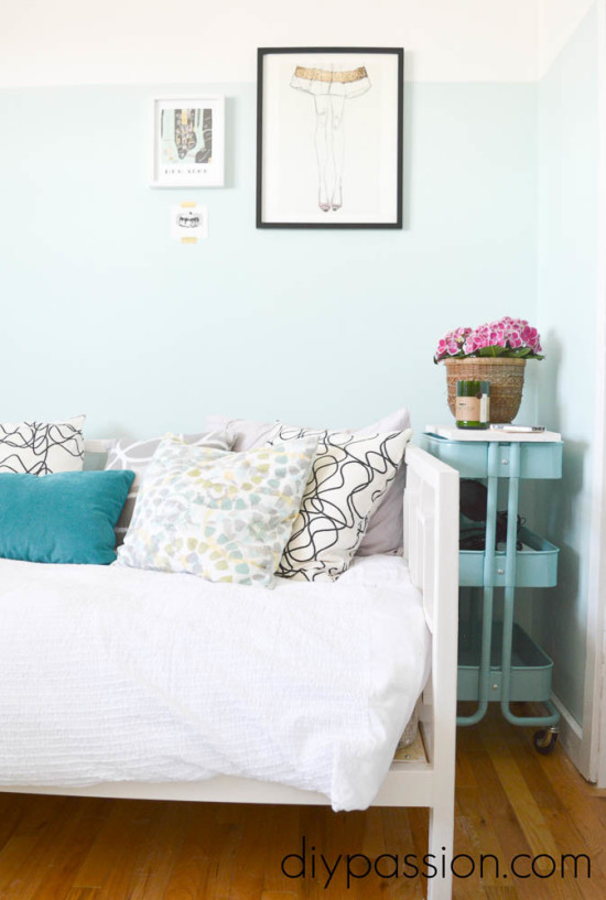 Home Office Makeover with Teal and White