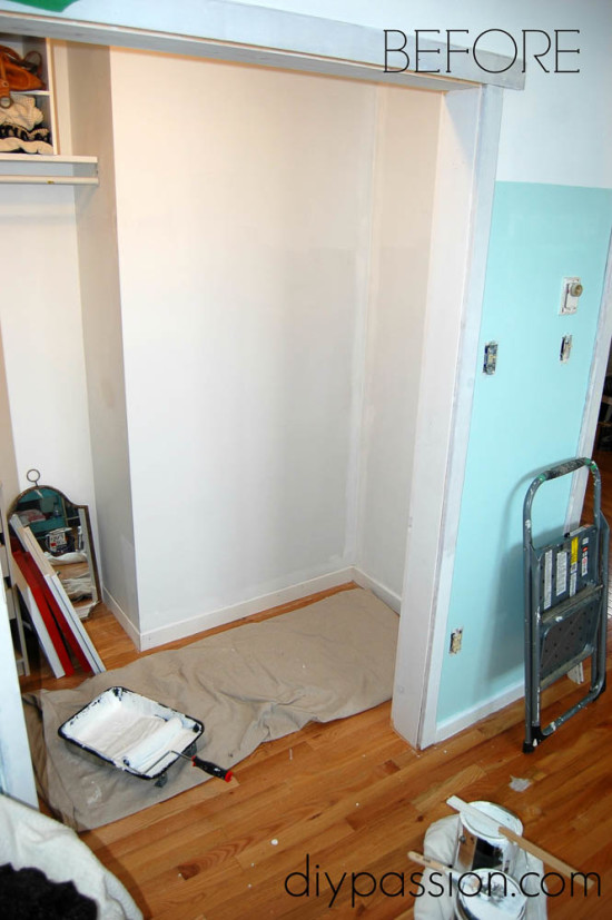 Walk in Closet Before