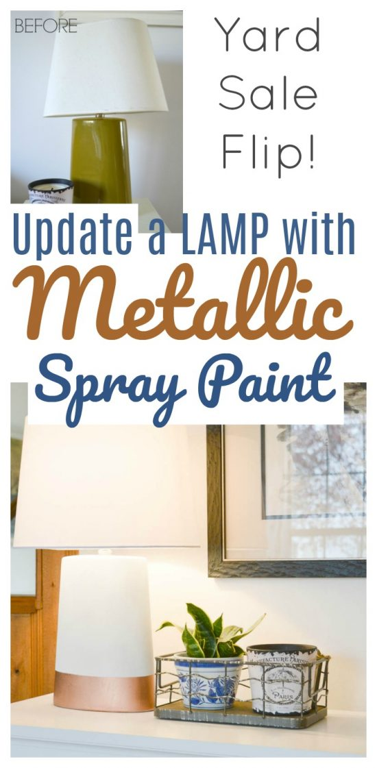 How to update a lamp with metallic spray paint