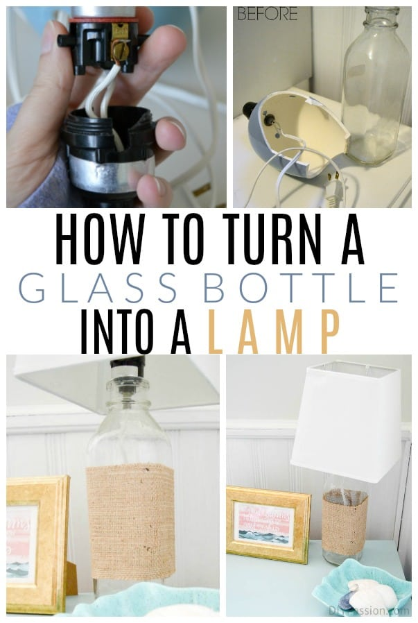 turn a bottle into a lamp