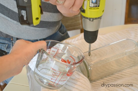 How to safely drill through glass