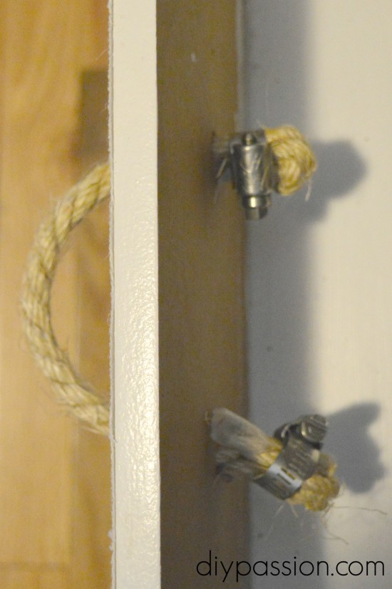 How to add rope hardware to a dresser