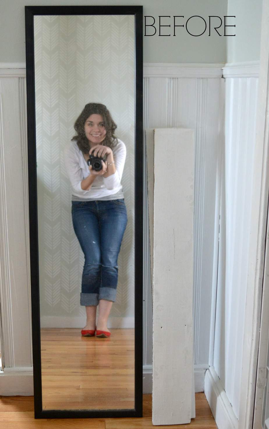 How To Update A Boring Full Length Mirror For Free