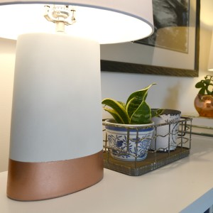 DIY Copper Painted Lamps