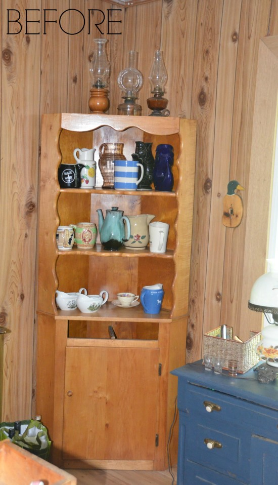Farmhouse Cabinet Before chalk style Paint