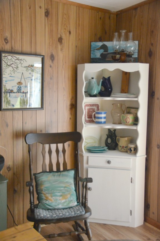 How to use leftover paint Chippy Corner Cabinet