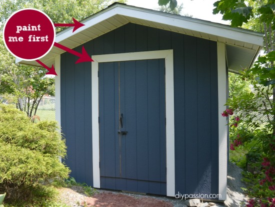 how to paint a shed 11