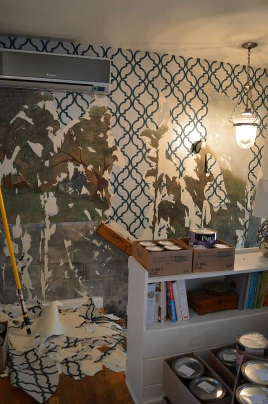 Foyer BEFORE wall paper down