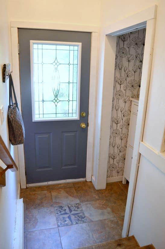Foyer Makeover Front Door Paint