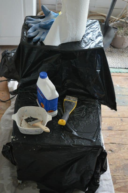 Stripping a Table Garbage Bags