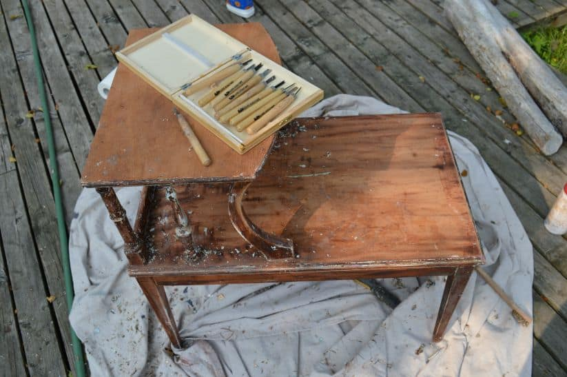 Stripping Vintage Wood Furniture