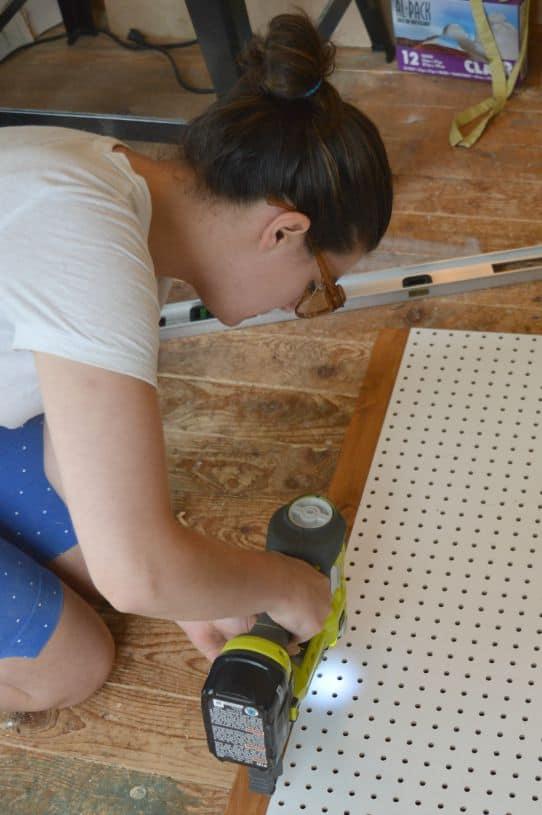 DIY Nautical Peg Board Adding a Wood Frame