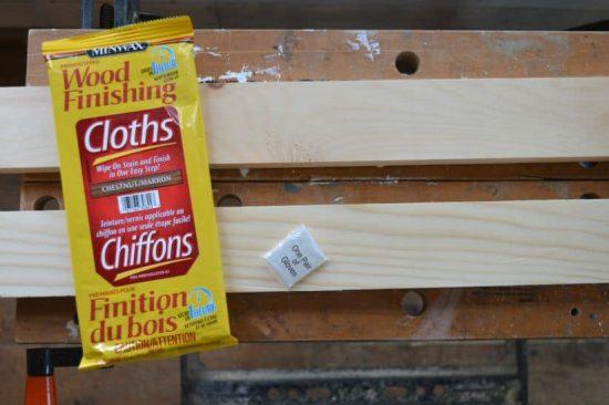 DIY Nautical Peg Board Wipe on Stain Cloths