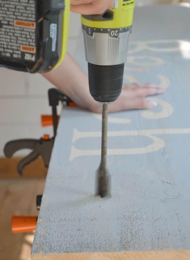 DIY Scrap Wood Sign Using a Countersink Drill Bit