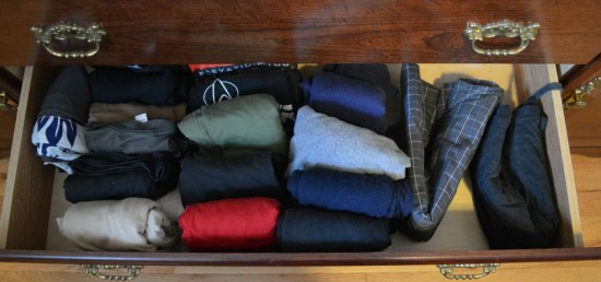 KonMari Drawer Close Up