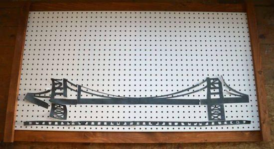 Peg Board Bridge Silhouette
