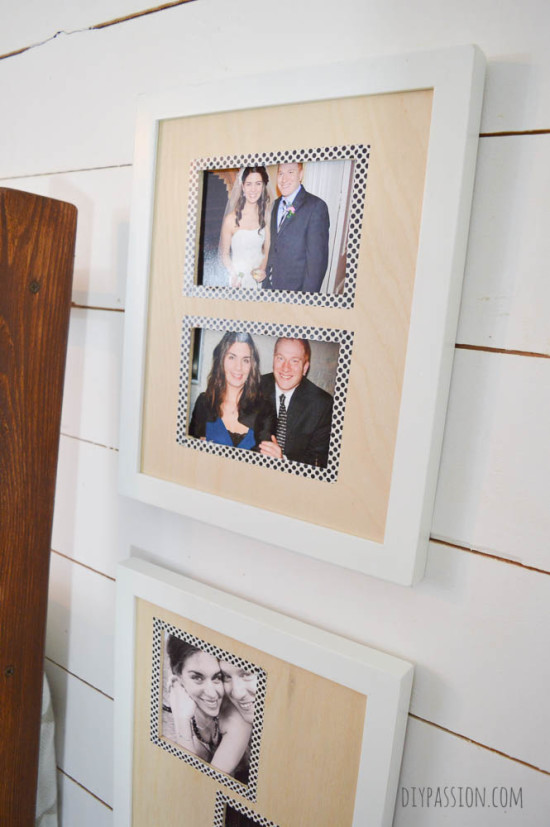 Craft Wood Photo Mats in Thrift Store Frames