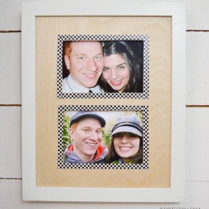Craft Wood Photo Mats with Washi Tape Borders