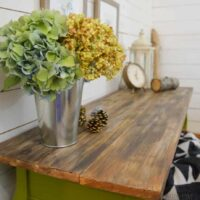 Easy Project! Paint a Harvest Themed Console Table