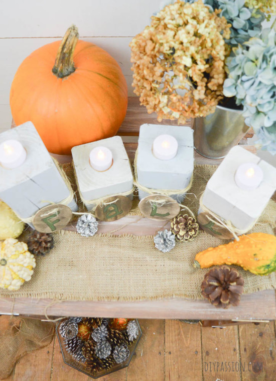DIY Candlesticks for Fall