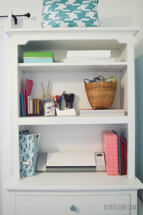 Decluttered Paperwork Hutch with KonMari