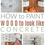 paint wood to look like concrete