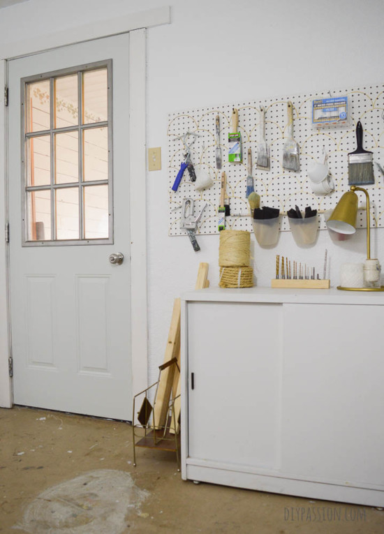 Studio Door Repainted in Lunenburg and Sprayed with Stainless Steel