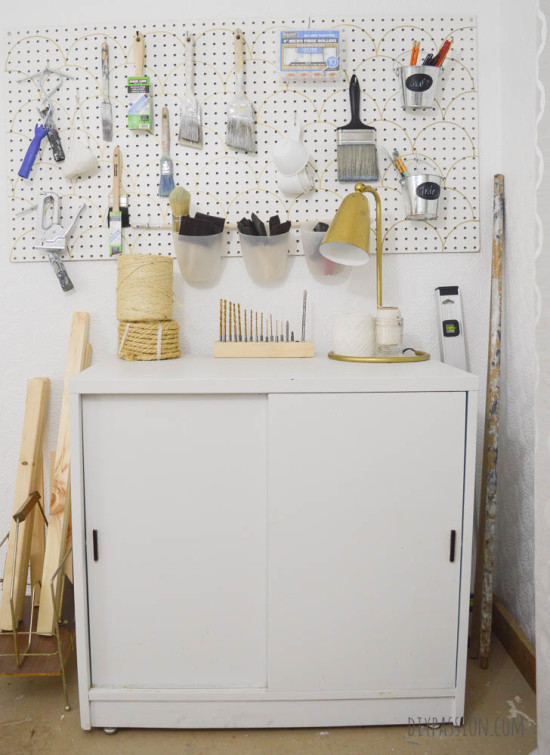 Studio Painting Cabinet Before its Makeover