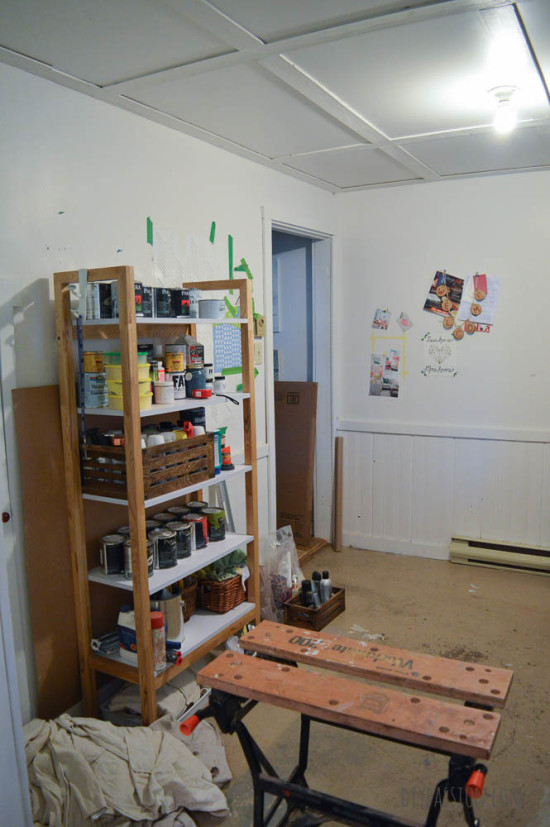 Studio Space Before Unorganized Paints