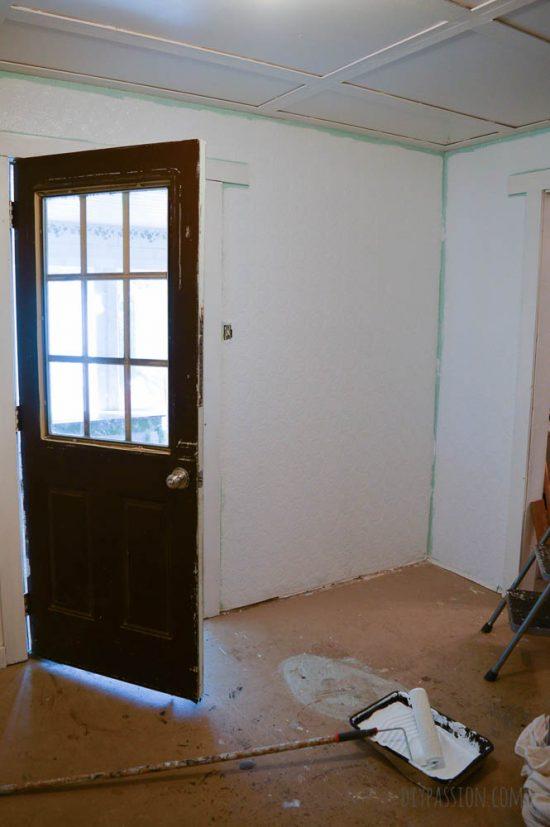 Studio Space being repainted in JoJo Whitewash