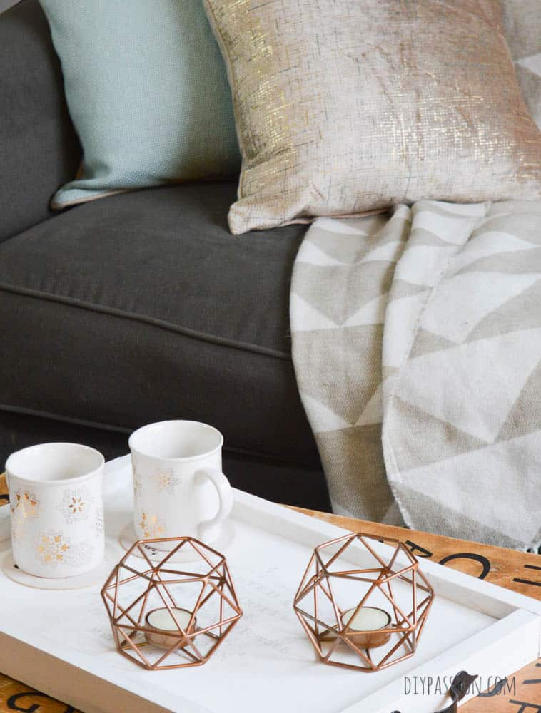 Gorgeous Copper Geometric Tea Light Holders