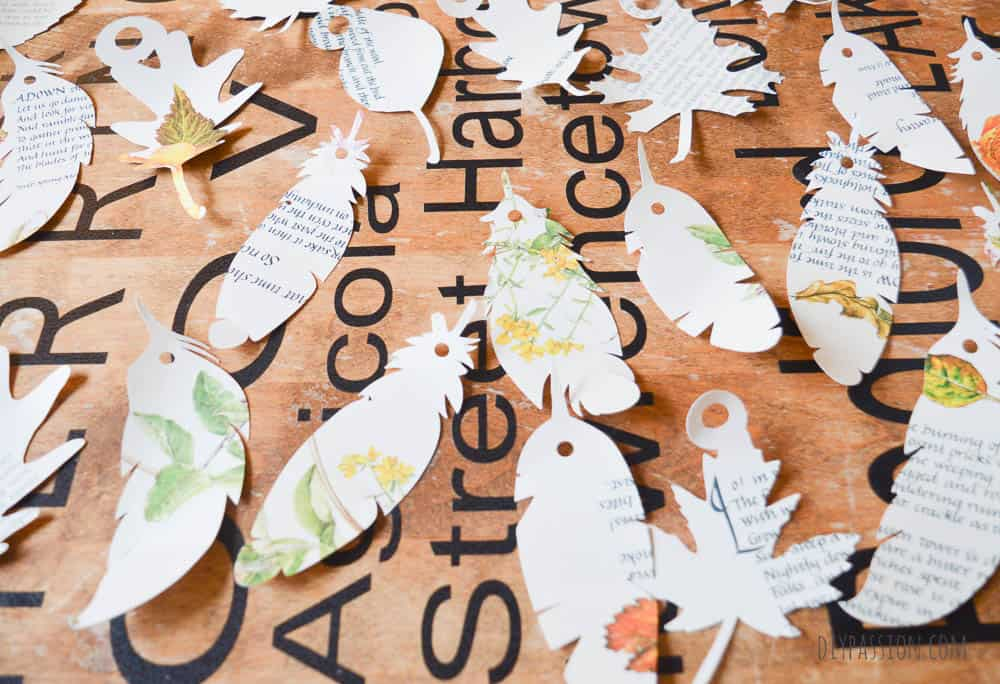 Book Pages Cut out with a Silhouette Cameo