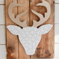 Make your own Quick & Easy DIY Geometric Deer Head Wall Art
